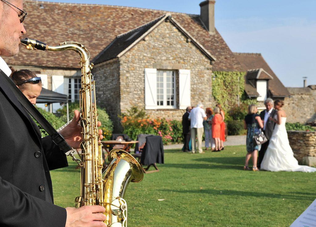 Saxophoniste Mariage château