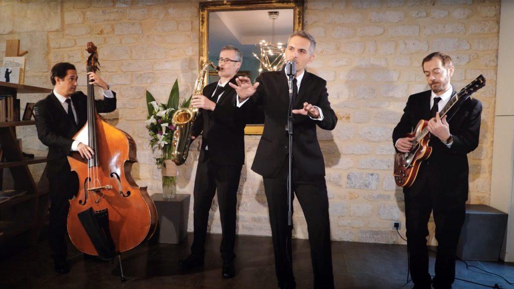 Un quartet de Jazz avec chanteur